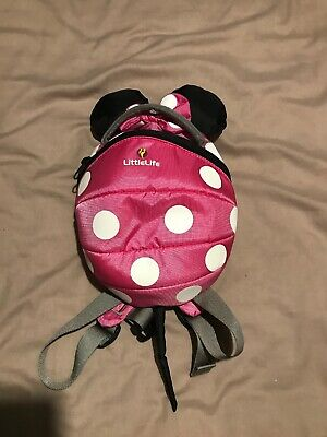 Minnie Mouse inspired pink LittleLife child's backpack with reins