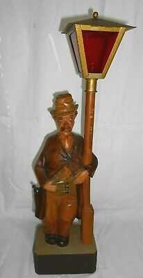 Antique Black Forest Germany Carved Wood Whislting Man By Karl Griesbaum W/Key