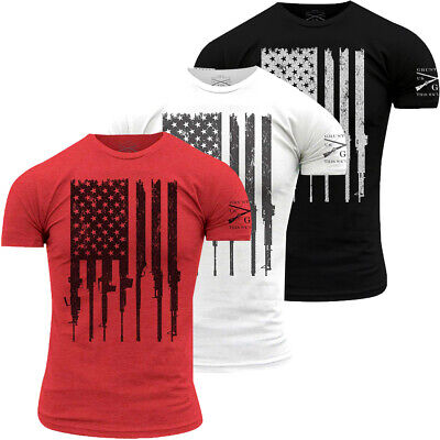 Grunt Style Rifle Flag Crewneck T-Shirt