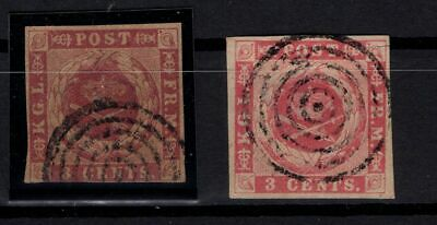 P000071/ Danish West Indies Stamps – Y&T # 1 / 2 Used 410 E