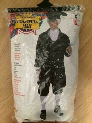 Men/'s Deluxe George Washington Costume President Colonial Man Blue Beige Adult