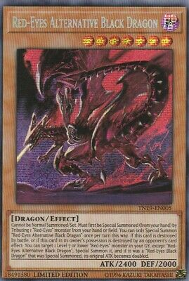 Yugioh Holo Card Red-Eyes Alternative Black Dragon Tn19-En005 Limited Edition