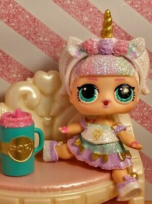 Lol surprise dolls, UNICORN in a resealed ball. Color changer. Glitter series.