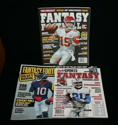 3 Fantasy Football Magazines New Pro Forecast - Lindys - Draft Book