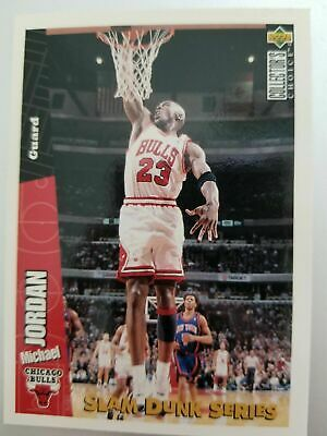 Michael Jordan 1996 UD Choice Slam Dunk Series Insert + HoloFoil Signature Lot