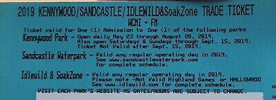 2 Tickets for Kennywood Park Amusement/Sandcastle Waterpark/Idlewild $110 Value