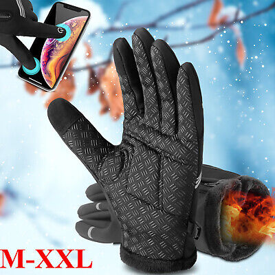 Winter Gloves Touch Screen Windproof Waterproof Thermal Warm Men Women Mittens L