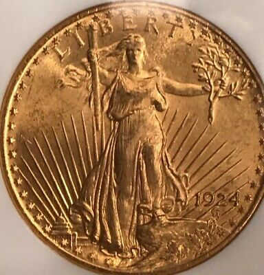 1924  $20 Gold St. Gaudens Double Eagle NGC MS 66 Stunning Gem!