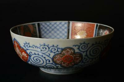 T1620: Japanese Old Imari-ware Kashiki DESSERT BOWL/dish Tea Ceremony