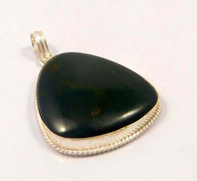 Moss Agate .925 Silver Plated Handmade Pendant Jewelry JC6474