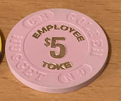 Golden Nugget Las Vegas -  $5 Employee Toke Casino Chip - Book $40-$50