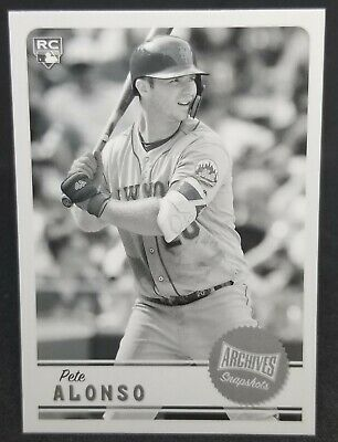 2019 Topps Archives Snapshots Black and White Parallel Cards- U Pick-Pete Alonso