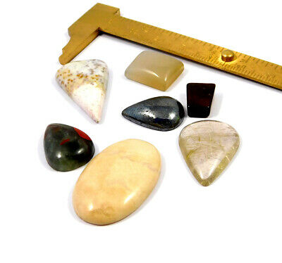 97 Cts. 100% Natural Lot Of Mix Stone Loose Cabochon Gemstone NG21124