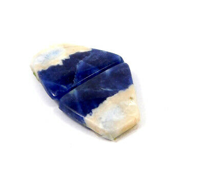 100% Natural Sodalite Pair Cabochon Gemstone RM20816