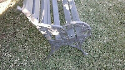 Vintage  Outdoor Cast Iron Timber Garden Park Bench Seat