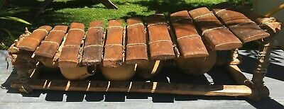 Late 19th Century/early 20th century French wooden xylophone with gourds
