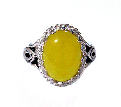 Islamic Men Ring SHARAF SHAMS With TALISMAN - China Agate  With Silver Plated