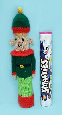 KNITTING PATTERN - Christmas Elf Smarties Sweet Holder 22 cms