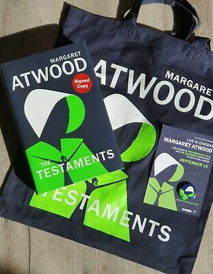Margaret Atwood Signed The Testaments 1/1 Hb/Dj 2019 New With Tote Bag  ...