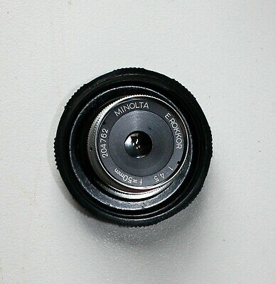 Vintage Minolta 50Mm F4.5 E.rokkor Enlarging Lens In Original Packaging