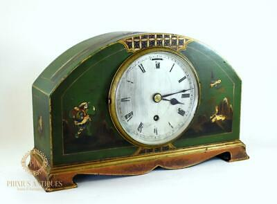 Art Deco 1930'S Chinoiserie Mantle Clock With Presentation Plaque To Verso