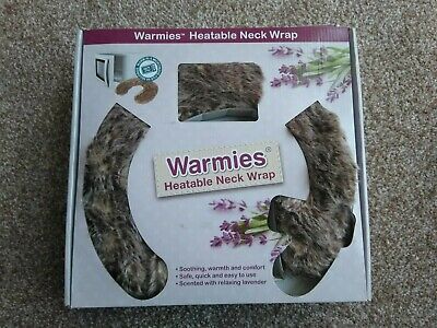 Intelex Warmies fur Heatable Neck Wrap Spa Therapy Pack Lavender Scented Gift