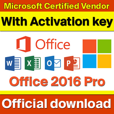 ✅ Microsoft Office 2016 Pro Plus | ✅ 100% license Key | ✅ Fast delivery
