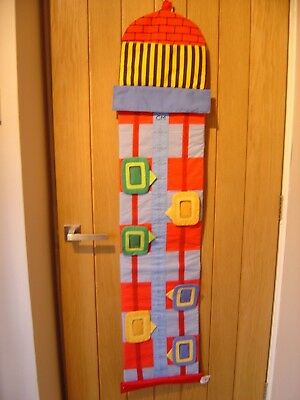 Lighthouse Fabric 6 Child Height Chart Childminder (Ref A) Excellent Condition