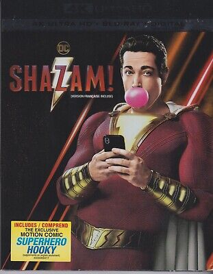 SHAZAM! 4K ULTRA HD & BLURAY & DIGITAL SET with Zachary Levi & Jack Dylan Grazer