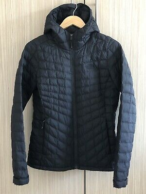 The North Face TNF Womens Thermoball Black Hooded Jacket / Coat Size Medium