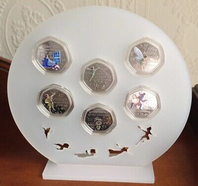 Peter Pan 50p Perspex Display Stand For Full Set,Coins Not Included,Freepost