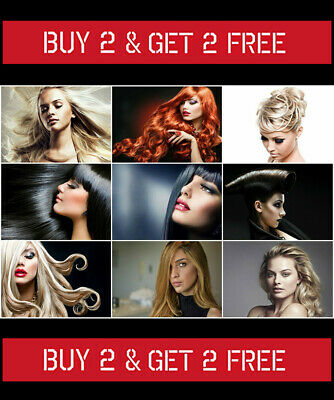 Womens Hairstyle Poster Hair Salon Ladies Hairdresser Trends Wall Art Size A4
