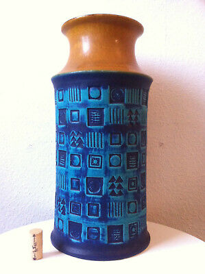 Bay Keramik Vase 35 cm, Bodo Mans West German 60s 60er 70s pop mid century