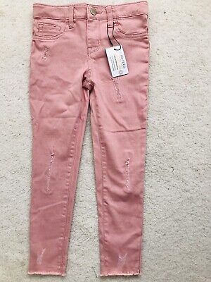 BNWT Pink Denim Skinny Jeans Age 5-6 Years From Primark