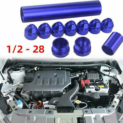 1/2-28 5/8 -24 Fuel Trap Solvent Filter For Napa 4003 WIX 2400 6061-T6 Car PTR