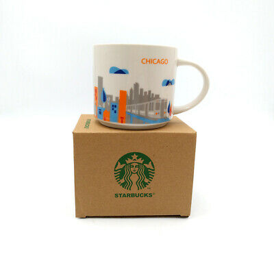 Starbucks Chicago City You Are Here Collection 14oz Coffee Mug Cup YAH Ceramic