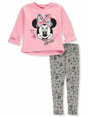 Disney Minnie Mouse Girls' Polka Cupcake 2-Piece Leggings Set Outfit