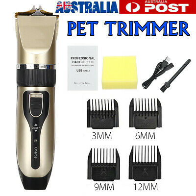 Electric Rechargeable Pet Clipper Dog Cat Hair Trimmer Comb Grooming Clippers AU