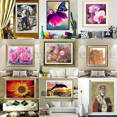 DIY 5D Diamond Painting Flower Girl Embroidery Cross Crafts Stitch Home Decor