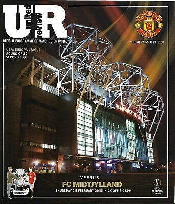 MANCHESTER UNITED v MIDTJYLLAND Europa League 2015/16 MINT