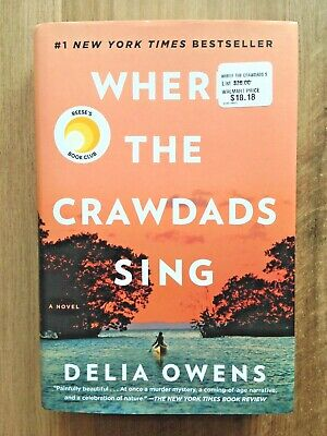 Where the Crawdads Sing - Delia Owens - Hardcover 2018  Read Once Excellent Cond