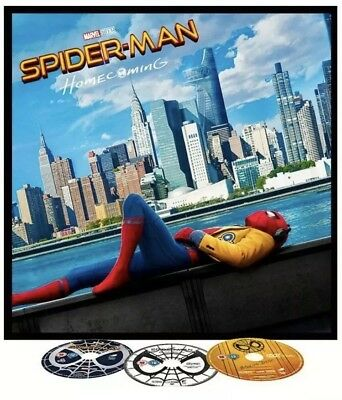 "Spider-Man Homecoming [Blu-ray& DVD] BIG SLEEVE + 12"" Arts, DVD's, 12 Page Comic"