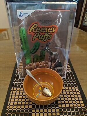 Travis Scott Reese's Puffs Complete Set (Cereal with Acrylic Case+Bowl+Spoon)