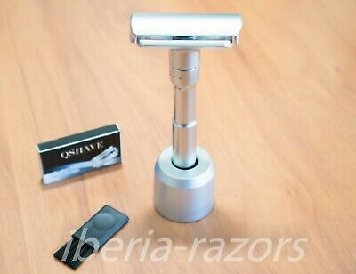 QSHAVE adjustable razor with stand, similar to merkur futur. SHIPPING FROM SPAIN