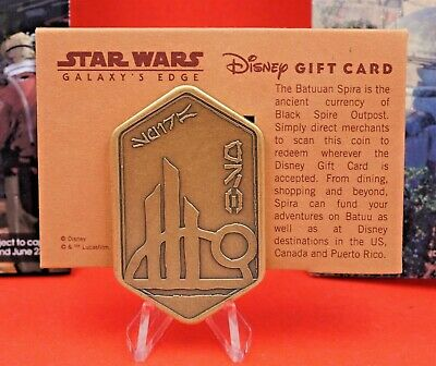 Disneyland Star Wars Galaxy's Edge Gift Card Batuu Spira Disney Metal Gift Card
