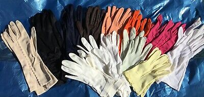 Vintage Gloves Job Lot 12 Pairs Ladies Gloves. Various styles and colours
