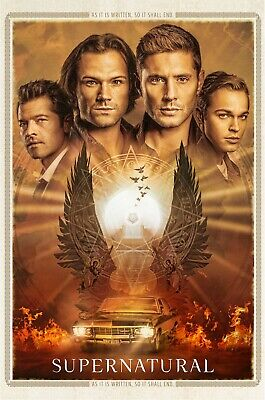 Supernatural Season 15 Poster Sam Dean Castiel Jack TV Show - 11x17 13x19 - NEW