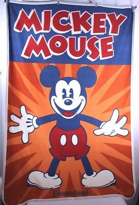 Disneyland Resort Mickey Mouse Orange/Blue Fleece Throw Blanket Disney Parks