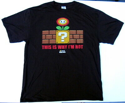 VINTAGE Promo Nintendo New Super Mario Bros This Is Why I'm Hot Shirt Large 3DS