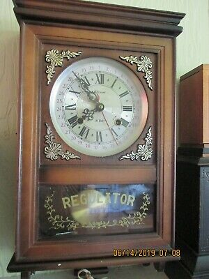Vintage Alaron 31 Day Regulator Mechanical Wall Clock With Chime Text Work Well